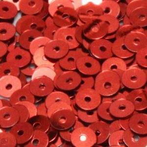 Sequins, red, Diameter 4mm, 1680 pieces, 8g, Disc shape, Sequins are NOT shiny, [CZP314]